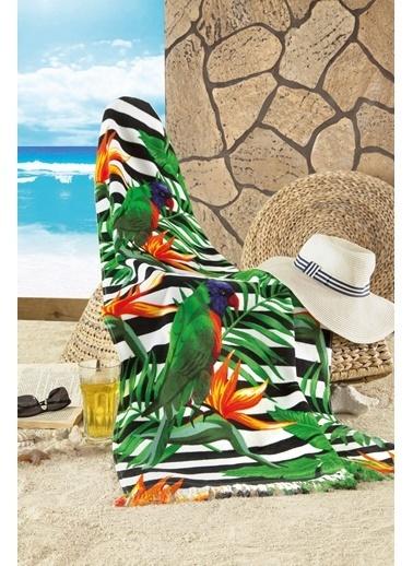 Maxstyle Parrot Kadife Plaj Havlusu 70x160 Cm Renkli